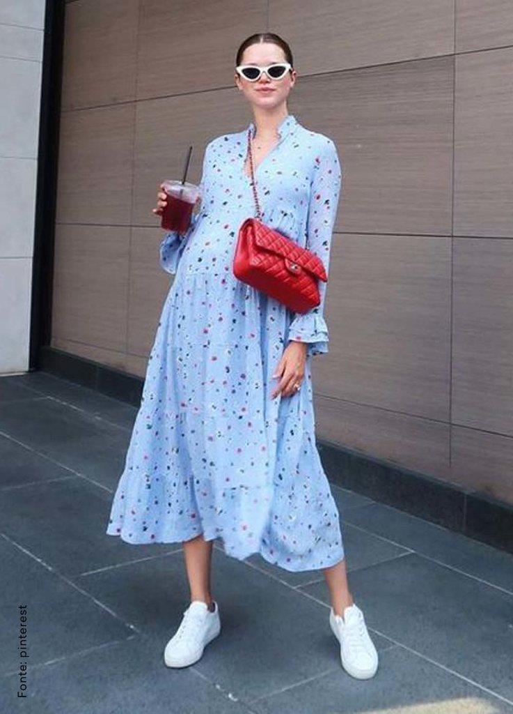 looks com bolsa transversal vestido