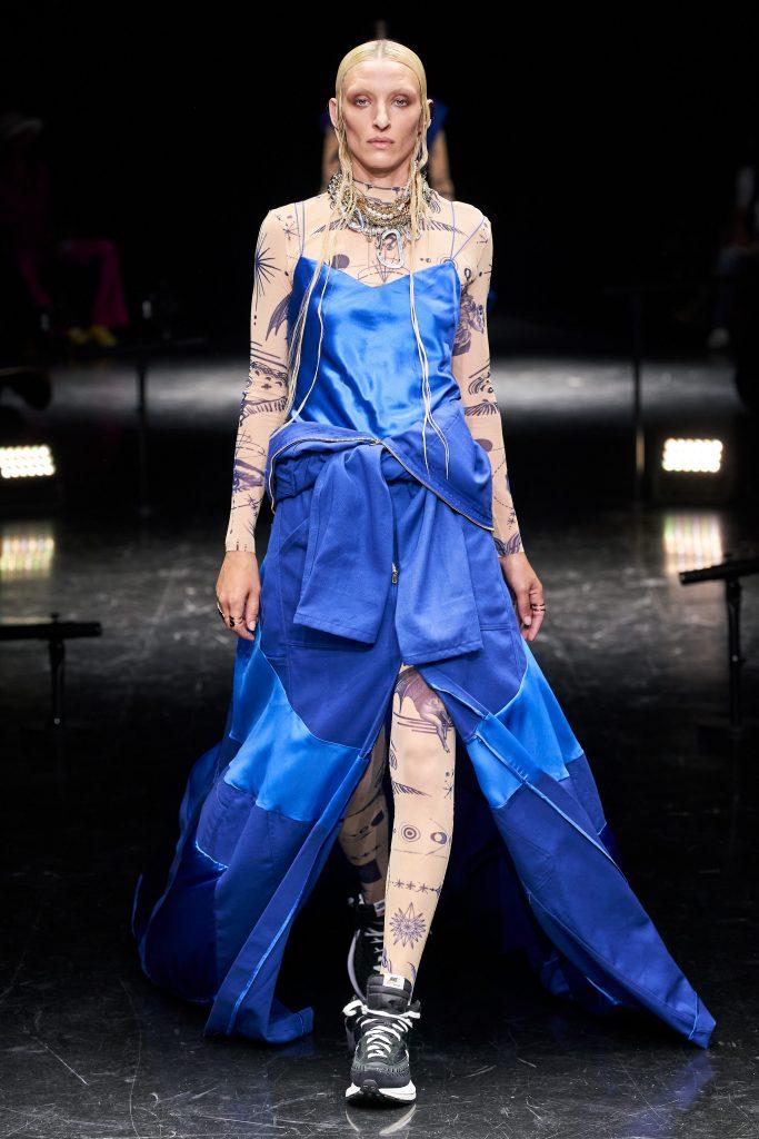 Foto maiores tendencias da semana de moda de alta costura sapatos chunky por jean paul gaultier