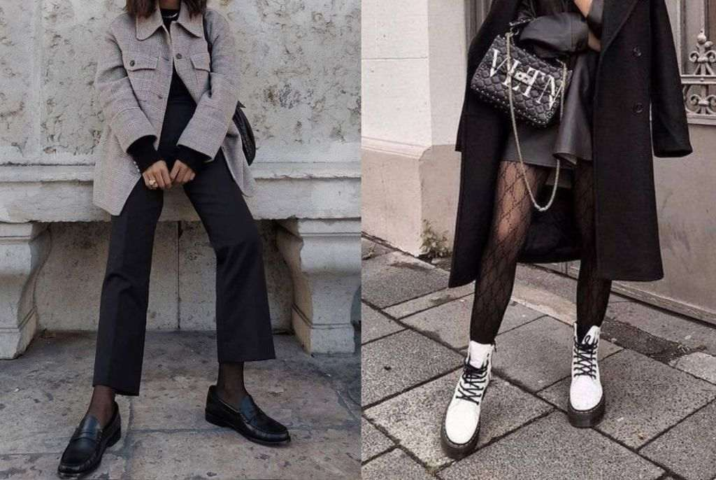 estilo dramático urbano sapatos
