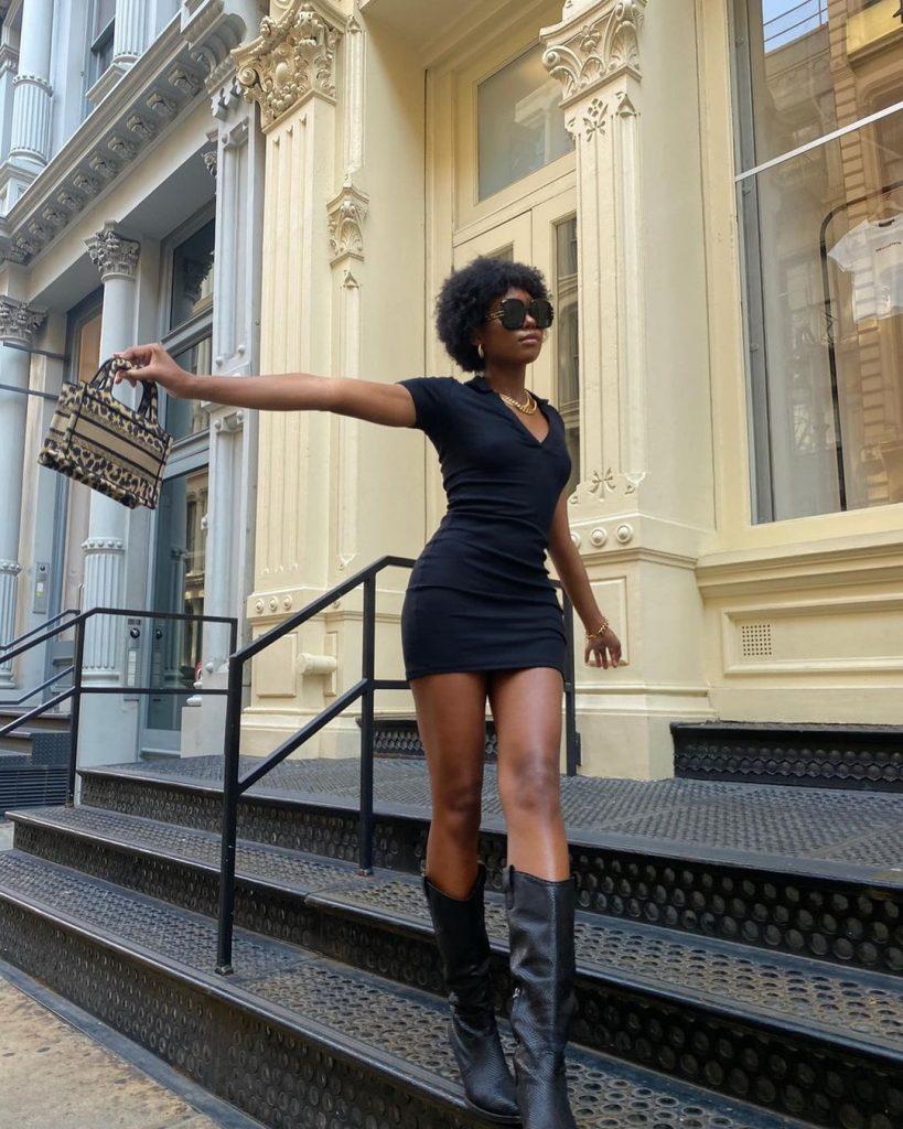 "Foto Ideia de look Chanel - o queridinho ""little black dress"""