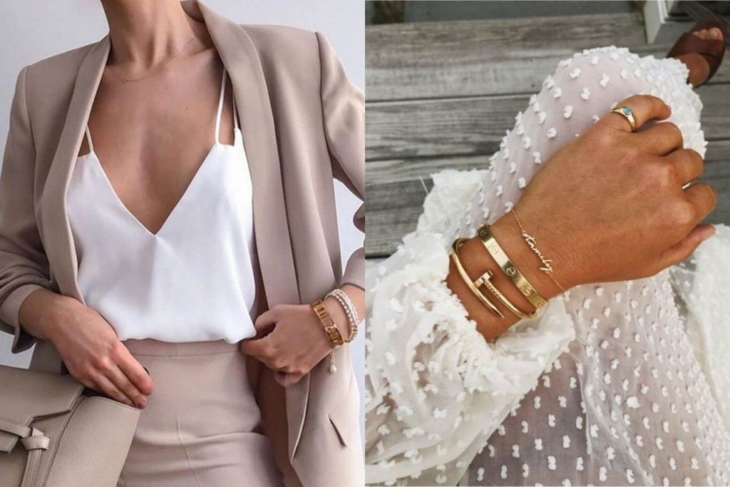 como combinar roupas e pulseiras