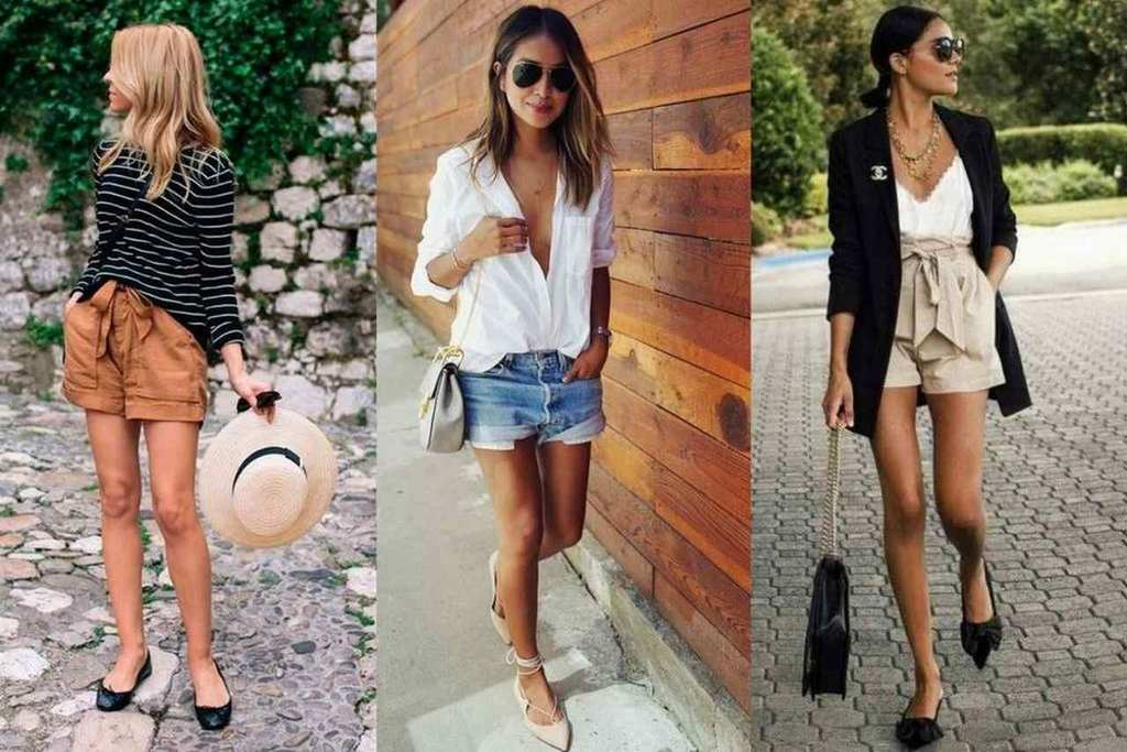 sapatilha e shorts